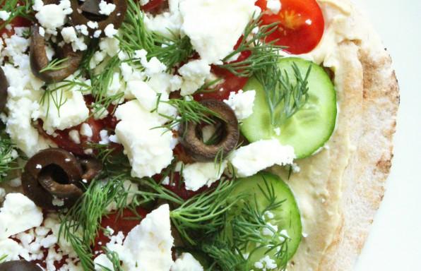 Tabbouleh -Pita-Pizza