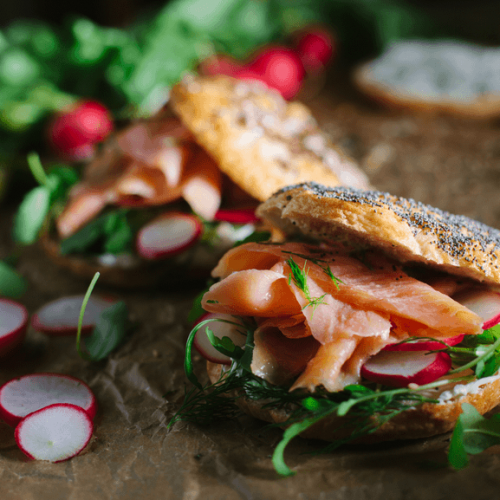 Salmon-Bagel-Sandwich