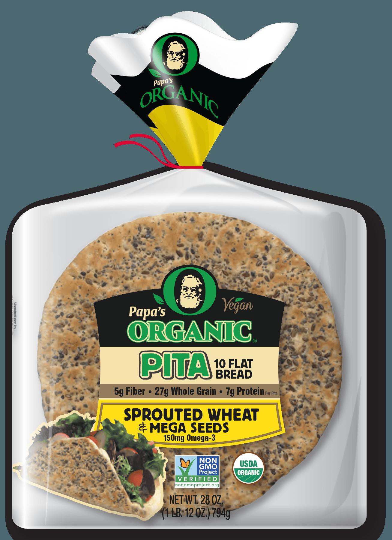 Papa's Organic Sprouted Wheat Pitas 10 CT
